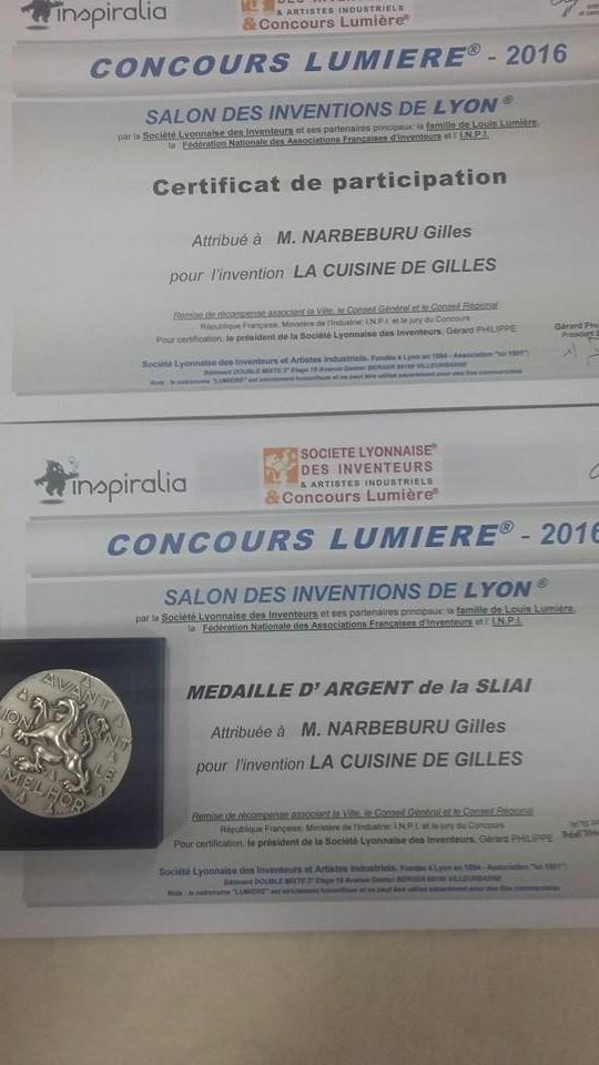 La cuisine mobile Médaille d'argent du Concours Lumière 2016